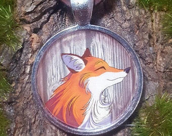 Fox Totem Pendant Necklace
