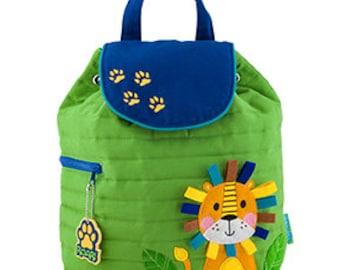 Toddler Stephen Joseph Quilted Backpack, Children's Backpack, Monogram, Personalized Lion Backpack, Diaper Bag, Preschool Backpack