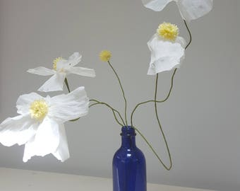 Californian Poppies, Paper Flowers, Home Decoration, Gift