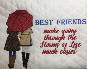 Best Friends Storms of Life Embroidery Design