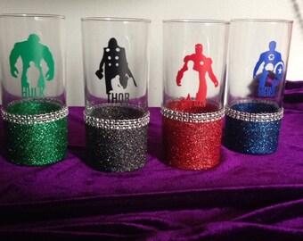 Avengers theme tumbler glasses