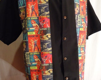 Pulp Novel Covers Shirt Made to Order up to size 4XL