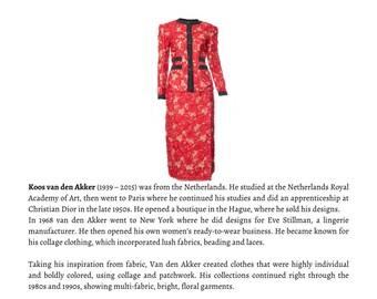 Vintage Koos van den Akker  skirt suit, KOOS COUTURE