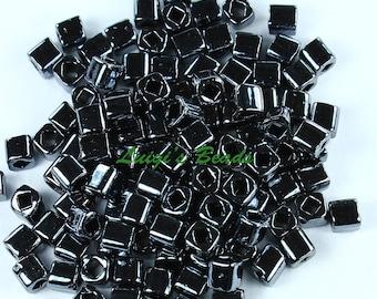 15g Metallic Hematite 81-TOHO Japanese Cube Beads 4mm
