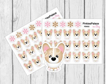 Corgi Small Stickers Planner Stickers Dog Stickers
