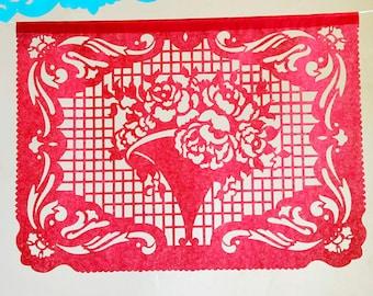 BOUQUET - custom color papel picado banners - fiesta decorations