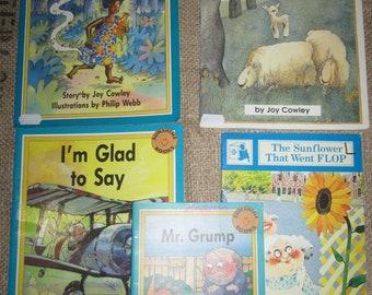 Lot 5 JOY COWLEY Children's Books Mr. Grump The Sunflower that went FLOP Music