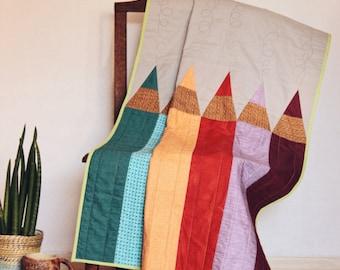 Baby organic blanket, baby quilt, coloured blanket, cotton, modern design