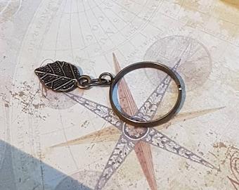 Mori Girl Antique Dangle Ring - Leaf