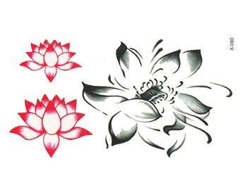 Lotus Tattoo Sheet - 1 Pc