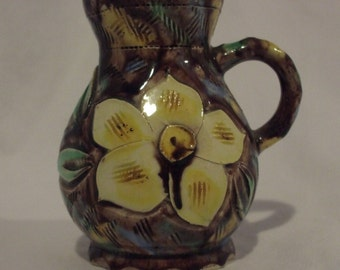 Vintage Porcelain Hand Painted Pitcher~Signed by the Artist~Dogwood Flower