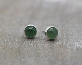 Aventurine Stud Earrings - Sterling Silver Post Earrings - Gift For Her - Gemstone Earrings - Jewelry sale