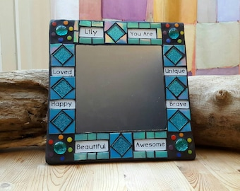 PERSONALISED Positive Affirmation Mosaic Mirror