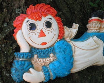 Vintage Raggedy Ann Wall Hanging / Wall Art By The Bobbs-Merrill Company 1977 - Kitschy Retro 70s Childrens / Kids Room Home Decoration Gift