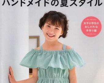 Elementary School Girls Summer Clothes - Japanese Craft Book