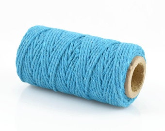 BLUE BAKERS TWINE - Blue Twisted Cotton String / Bakers Twine (20 meter spool)