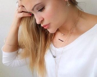 Crystal Quartz Necklace, Dainty Necklace, Minimal Necklaces, Herkimer Necklace, Diamond Necklace, Delicate Necklace