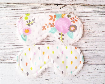 Back to School - Party Favors - Sleeping Mask - Gifts for Her - Eye Mask - Accessories  - Flower Sleep Mask - Teacher Gifts