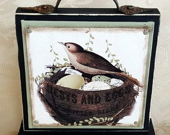 Spring Bird Nest Canvas Block of the Month SET