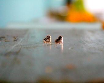 Delicate Heart Earrings | Dainty Heart Jewelry | Tiny Heart Earrings