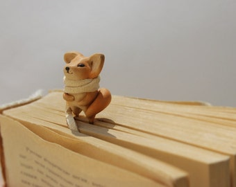 Fox Bookmark charm SALE 15% Back to school supplies red cute best gift for girl animal miniature clips best gift for kids woodland book mark