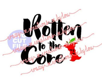 Rotten To The Core Onesie digital cut file for htv-vinyl-decal-diy-plotter-vinyl cutter-craft cutter-.SVG -.DXF  & JPEG format