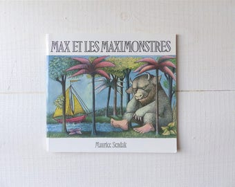 Vintage MAX & the wild things from Maurice Sendak book children's book