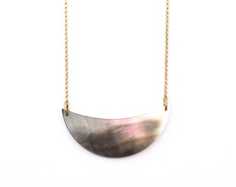 Mother of Pearl Petal Necklace