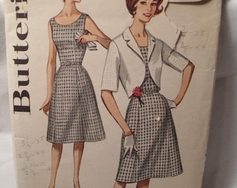 Vintage Butterick sewing pattern 2255, size: 161/2, bust 37
