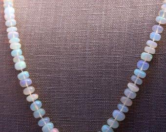 Opal Strand Necklace, Ethiopian Opal Strand Necklace, AAAA Ethiopian Strand Necklace, October Birthstone, 13th Wedding Anniversary, Opals