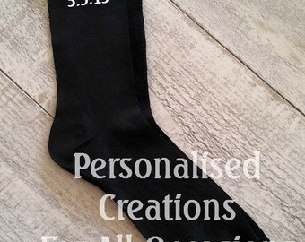 Personalised Groom Socks 1 Pair - Best Man, Father Of The Bride, Page Boy