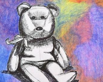 Child's Bear original watercolor painting