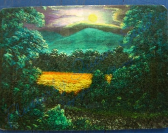 Back Porch View ACEO mini print limited special edition of 25