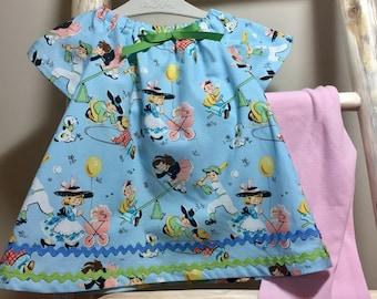 Baby Dress, Toddler Dress, Girl Dress, Play Dress, Baby Peasant Dress, Toddler Peasant Dress