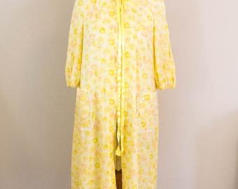 Vintage 60s Robe - M/L - Dressing Robe - House Dress - Vintage Robe - Vintage Bathrobe - Vintage Gift - Vintage Pajamas - 60s Clothing