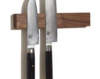 """M.O.C. Board 12"""" Walnut (Magnetic Knife Holder or Magnetic Knife Strip)"""