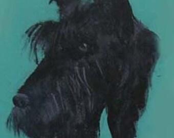 Pet Treat Jar, black Scottish Terrier handpainted pet treat jar, airtight lid for pet treat jar, glass jar, portrait of pet on treat jar