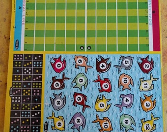 Vintage Transogram game boards and spinner - EXCELLENT CONDITION!