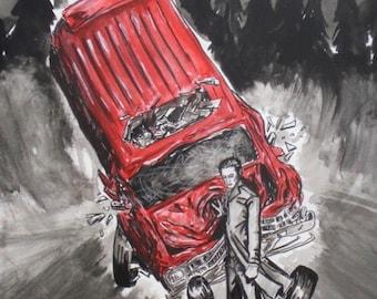 "Twilight ""Saving Bella"" 8.5x11 Art Print"