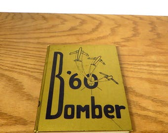 Vintage 1960's Yearbook Midwest City Oklahoma High School Yearbook The Bomber Midwest City High School Yearbook Retro Photos