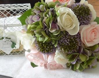 Bouquet of flowers-Bridal bouquet * Rose & Hydrangea *