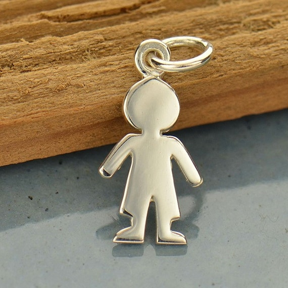 solid charm boy and pendant gold girl little baby