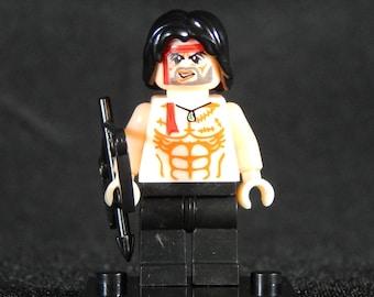 Rambo Inspired Minifig Sylvester Stallone John Rambo Rocky Building Block Toy