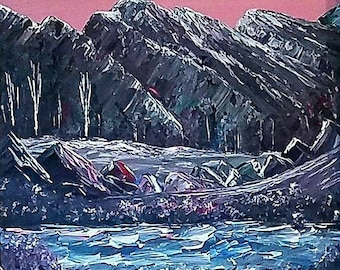 Valley of Mountains by Darrell Nickel of DNART CREATIONS Original Acryliic Paintings