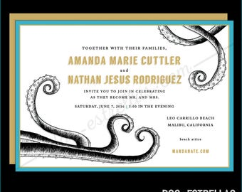 TENTACLE HEART Wedding Invitations