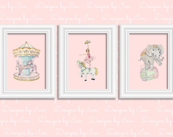 Carousel Horse   Carnival Theme   Merry Go Round     Printable Wall Art   Instant Download