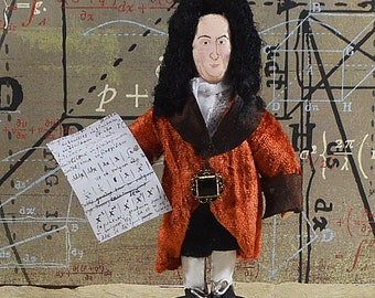 Gottfried Leibniz Mathematician Philosopher Math Art Historical Figure Miniature Collectible