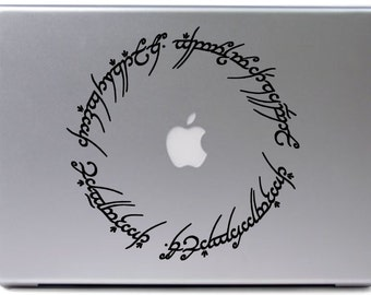 Lord of the Rings Elvish Circle laptop/macbook decal
