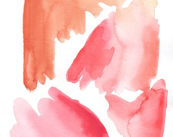 Pink Abstract Watercolor Print