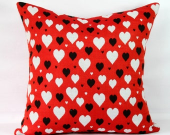 Red heart pillow Etsy